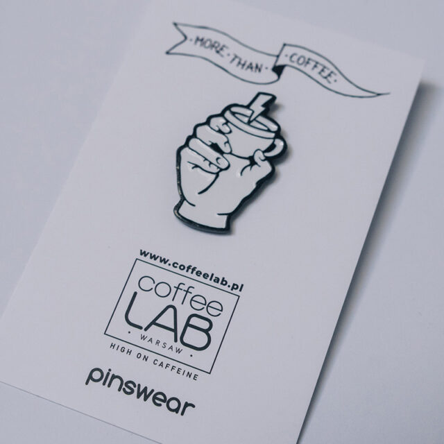 PIN MORE THAN COFFEE LABEL x COFFEELAB made by PINSWEAR_1