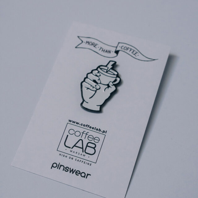 PIN MORE THAN COFFEE LABEL x COFFEELAB made by PINSWEAR_2