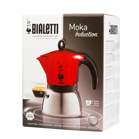 Bialetti Moka Induction 6tz Czerwona